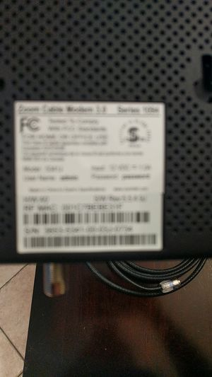 Zoom Cable Modem for Sale in McDonald, PA