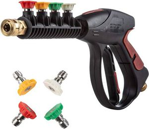 Pressure Washer Gun 4000 PSI Power Spray Car Wash Gun with M22-14mm Thread 4-Color Pressure Water Washer Nozzles for Sale in Pomona, CA