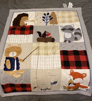Lambs and Ivy Little Camper (Woodland Creatures) Crib Comforter Set for Sale in Spring, TX