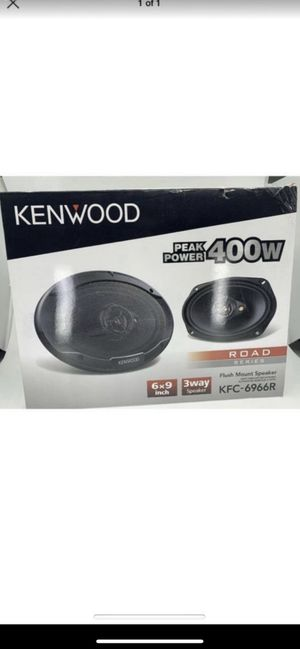 "NEW Kenwood KFC-6966R Road Series 6"" x 9"" 3-Way Car Speakers $30 firm for Sale in Irvine, CA"