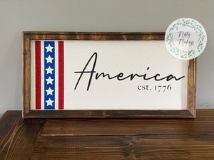 10x20 America Sign for Sale in Richlands, NC