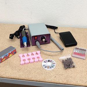 New in box $35 Salon Pro Manicure Tool Pedicure Electric Drill File Nail Art Pen Machine Kit for Sale in El Monte, CA
