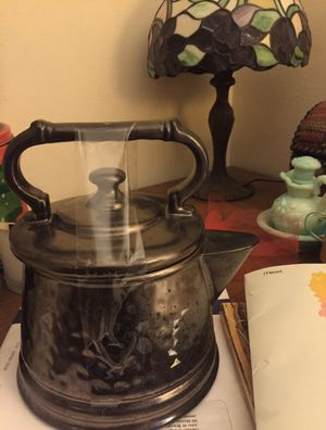 Antique Mc Coy Kettle-shaped Cookie Jar and Avon glass pitcher for Sale in Boston, MA