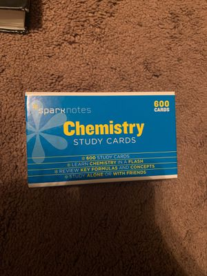 Chemistry Study Cards - SparkNotes for Sale in Lemont, IL