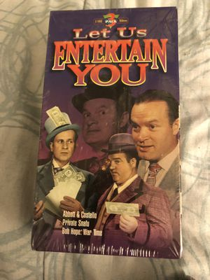 NEW Let Us Entertain You Abbott & Costello Private Snafu Bob Hope War Time 3 VHS for Sale for sale  Upland, CA