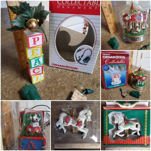 Vintage Noma Ornamotion Carousel Blocks Peace Noel Eluceo Mouse Motion Ornament Mouse Hallmark Carousel Horse for Sale in Downers Grove, IL