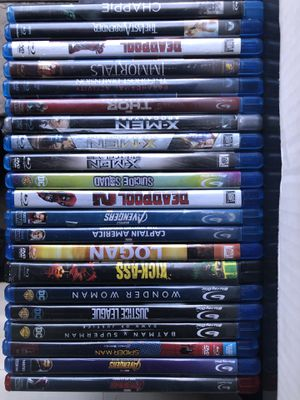 Blu Ray marvel and dc movies 10-15 each for Sale in Phoenix, AZ