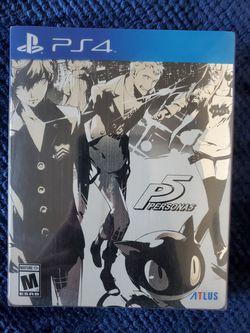 Persona 5 Ps4 Steelbook Edition for Sale in Costa Mesa,  CA