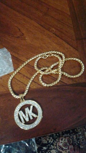 18k gold plated mk necklace for Sale in Severn, MD