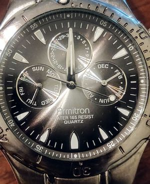 Nice Looking Armitron Chronography Men's Watch - Gunmetal Color for Sale in Libertyville, IL