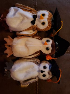 Wise, Wiser & Wisest Owls Ty Beanie for Sale in Toms River, NJ