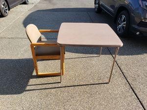 Folding Legs Table & Chair Set for Sale in Auburn, WA