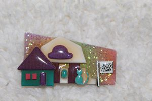 House Pin / Brooch by Lucinda for Sale in University Place, WA