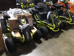 Ryobi Ride On Electric lawn mowers up on sale! $1900 and up for Sale in Sugar Land, TX