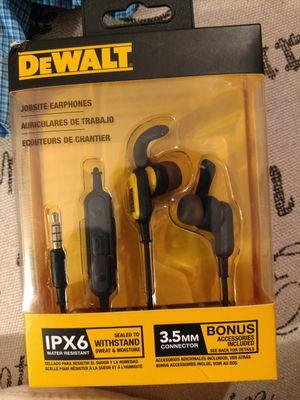 DEWALT JOBSITE EARPHONES (Wired) for Sale in Longview, TX