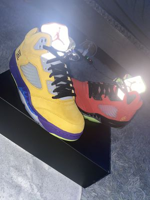 """Air Jordan 5 """"What The"""" for Sale in Newton, MA"""