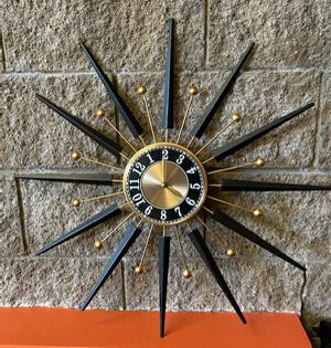 Mid Century Repro Starburst Wall Clock for Sale in Long Beach, CA