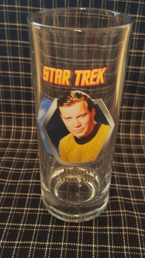 VINTAGE STAR TREK CAPTAIN KIRK 'Beam me up' GLASS for Sale in Downey, CA