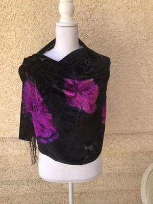Burnout Velvet Scarf for Sale in Las Vegas, NV