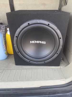 One 12 Inch Memphis Subwoofer Bass Speaker for Sale in Phoenix, AZ