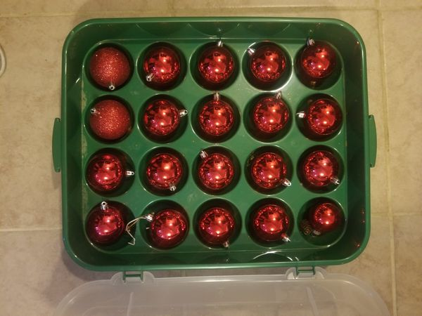 Red and Gold Christmas ball ornaments