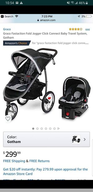 Graco FastAction Jogging Stroller Travel System for Sale in Auburn, WA