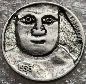 """Holiday Sale! Hand Carved """"Hobo"""" Buffalo Nickel 1936 Date One of a Kind """"Eddie"""" for Sale in Geneva, IL"""