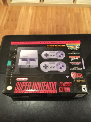 SNES Super NES Classic Edition With 2 Controllers for Sale in Philadelphia, PA