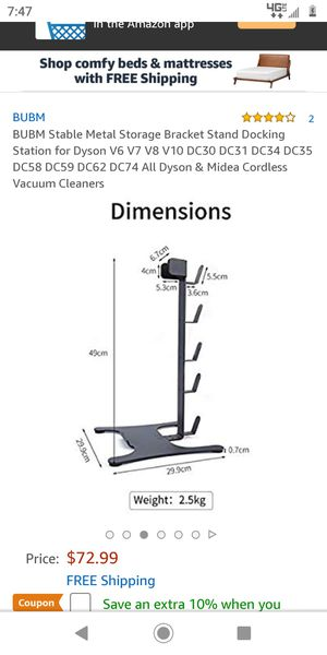 BUBM Dyson Vacuum Cleaner Storage Stand for Sale in Victorville, CA