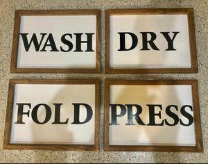 Essential List Laundry Sign Decor for Sale in Chesapeake, VA