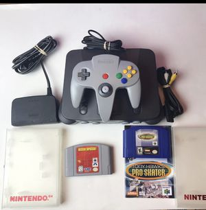 Nintendo n64 console with 2 games for Sale in Tampa, FL