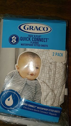 Graco pack and play quick connect waterproof fitted sheet for Sale in Norwich, NY