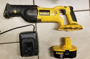 DeWalt 18v reciprocating saw, Battery, and charger for Sale in Virginia Beach, VA