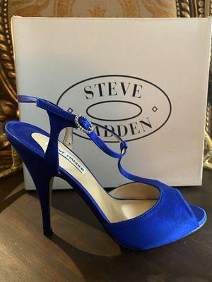STEVE MADDEN Blue Suede Heels for Sale in Spring, TX