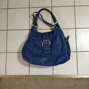 Blue Leather Coach Purse for Sale in Las Vegas, NV