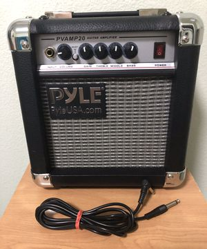 "PYLE PVAMP20 Amplifier 20 watts, new never used ""floor sample"" comes with 6ft right-angle cable, Guitar, Fender, Bass, effects for Sale in Pomona, CA"