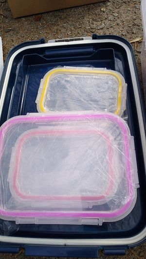 Three Pyrex locking lids for Sale in Lawrenceville, GA