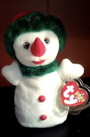 Snowgirl 2000 Ty Beanie Babie 8in Christmas Snowman Lady for Sale in Fort Washington, MD