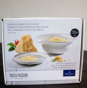 Pasta Passion Parmesan Bowl with Cover for Sale in Brooklyn, NY
