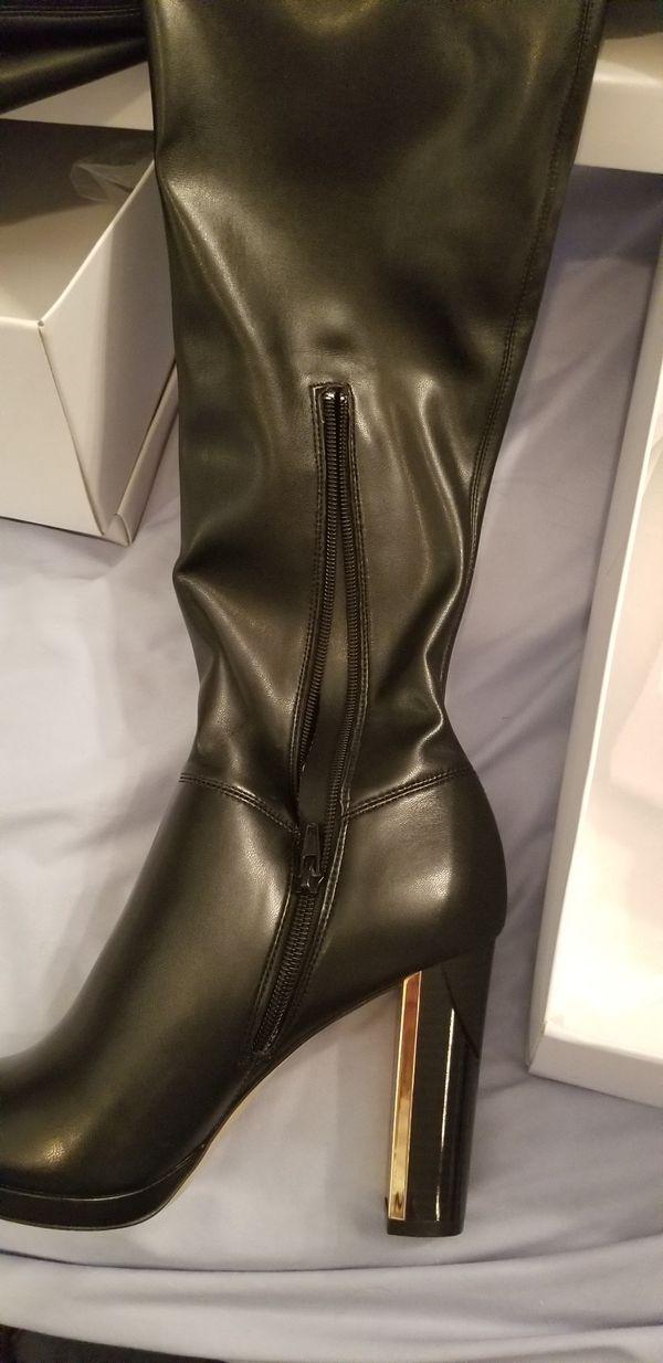 Calvin Klein Women's Black leather boots size 8