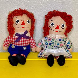 1970s Knickerbocker Toy Co. Raggedy Ann & Andy Plush Dolls for Sale in Glendale, CA