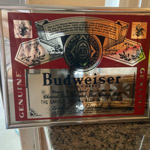 Budweiser Glass Pic $5 for Sale in Newark, CA