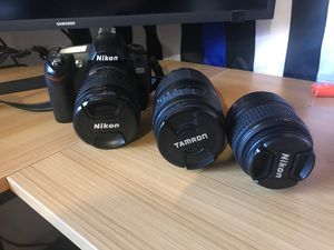 Nikon D70 camera 2 extra lenses for Sale in Everett, WA