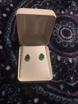 Dark green Diamond earrings for Sale in Bakersfield, CA