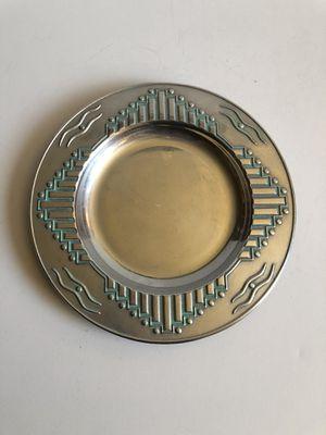 Southwest / Aztec Design Wilton Armetale Vintage Silver Metal Candle Holder Plate for Sale in Sun City, AZ