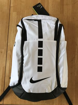 Brand new Nike hoops elite pro basketball backpack white black 38 L gym bag for Sale in La Mesa, CA