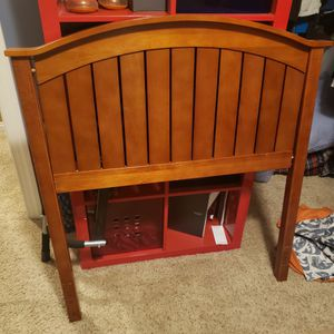 Wood Headboard With Twin Box Spring And Matress for Sale in Denver, CO