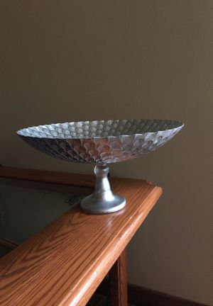 Glass Pedestal Bowl for Sale in Traverse City, MI