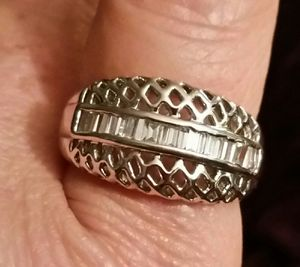 Silver plated ring with gems for Sale in Powhatan, VA