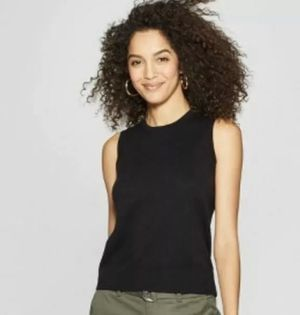 Women's Crewneck Sweater Vest Black for Sale in McClellan Park, CA